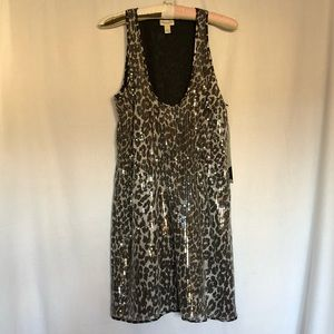 Rodarte Animal Print Sequin Dress